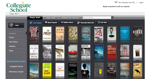 Ebook magic wall!
